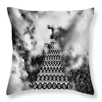 On The Stairway To Heaven Bw Palm Springs Throw Pillow by William Dey