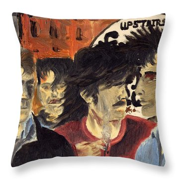 On The Street Throw Pillow by Alan Hogan