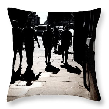 Throw Pillow featuring the photograph On The Street by Craig B