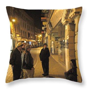 On The Street  Throw Pillow by Mike McGlothlen