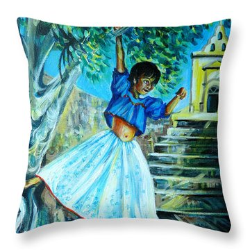 On The Streets Of Bucerias. Part One Throw Pillow by Anna  Duyunova