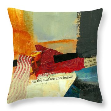 On The Surface And Below Throw Pillow by Jane Davies
