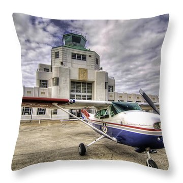 On The Tarmac Throw Pillow