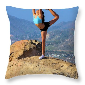 On The Top Of Rubidoux Throw Pillow