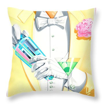 On The Town Throw Pillow by Brian James