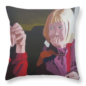On The Train Throw Pillow