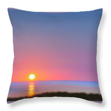 On The Water Throw Pillow by Bill Wakeley