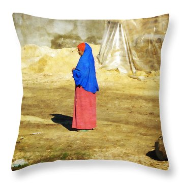 On The Way To Alexandria Throw Pillow by Mary Machare