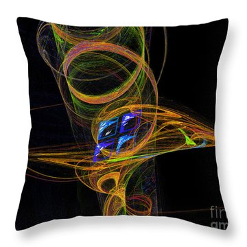 Throw Pillow featuring the digital art On The Way To Oz by Victoria Harrington