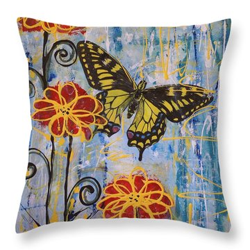 On The Wings Of A Dream Throw Pillow