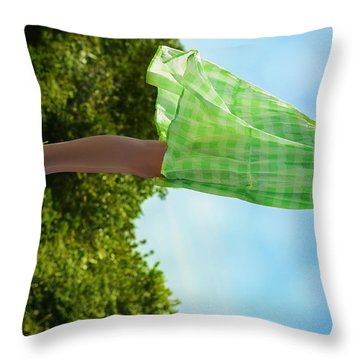 On This Spinning Earth  Throw Pillow by Laura Fasulo