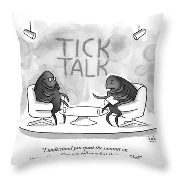 On Tick Interviews Another On A Talk Show Called Throw Pillow