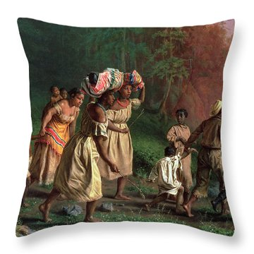 On To Liberty, 1867 Throw Pillow by Theodor Kaufmann