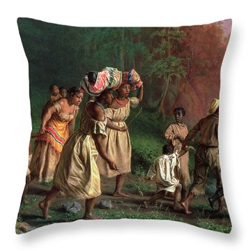 On To Liberty Throw Pillow by Theodor Kaufmann