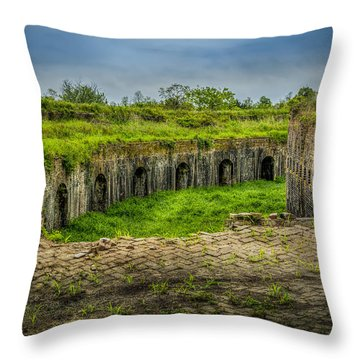 On Top Of Fort Macomb Throw Pillow by David Morefield