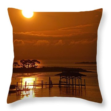 Throw Pillow featuring the digital art On Top Of Tacky Jacks Sunrise by Michael Thomas