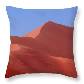 On Top Of The World Throw Pillow by Aidan Moran