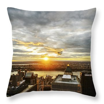 Throw Pillow featuring the photograph On Top Of The World  by Anthony Fields