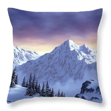 On Top Of The World Throw Pillow by Rick Bainbridge