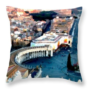 Throw Pillow featuring the digital art On Top Of Vatican 1 by Brian Reaves