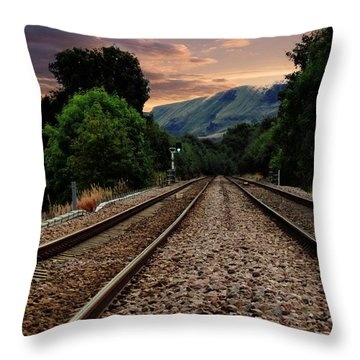 On Track. Throw Pillow
