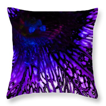 On Wings Of Veins Throw Pillow