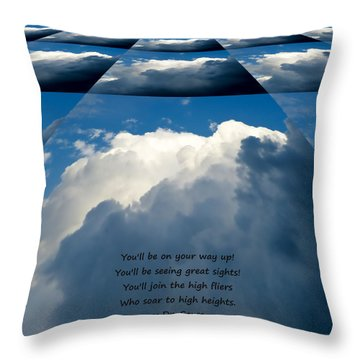 On Your Way Up Throw Pillow