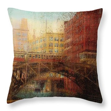Once A Rainy Day Throw Pillow by Jack Zulli