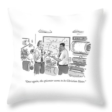 Once Again, The Epicenter Seems To Be Christian Throw Pillow