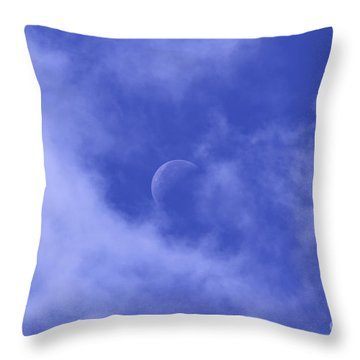 Throw Pillow featuring the photograph Once In A Blue Moon by Judy Whitton