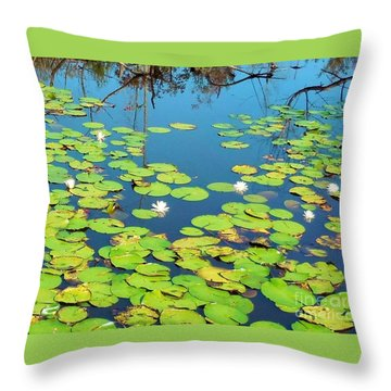 Once Upon A Lily Pad Throw Pillow by Eloise Schneider