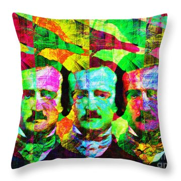 Throw Pillow featuring the photograph Once Upon A Midnight Dreary 20140118p128 by Wingsdomain Art and Photography