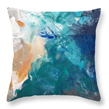 On A Summer Breeze- Contemporary Abstract Art Throw Pillow