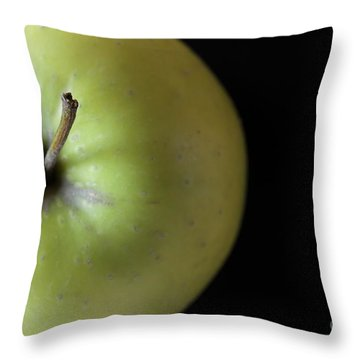 One Apple - Still Life Throw Pillow by Wendy Wilton