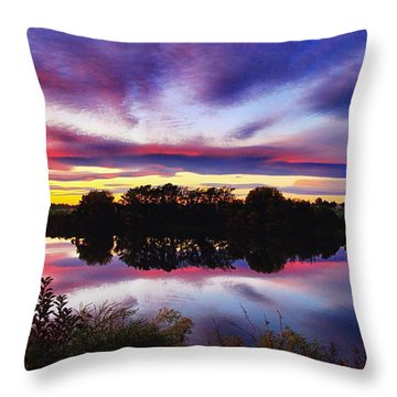 One Autumn Evening Throw Pillow
