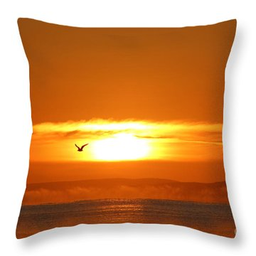 Good Morning Throw Pillow by Katy Mei