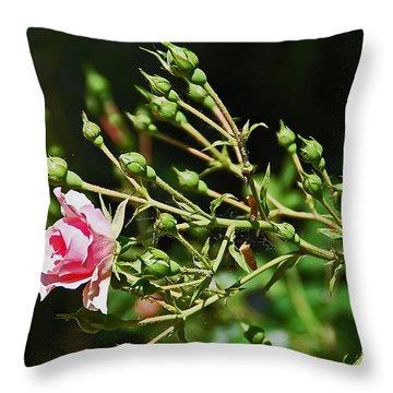 One Blossom Throw Pillow