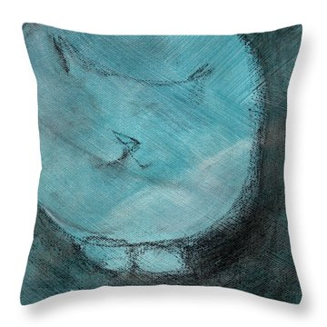 One Blue You Throw Pillow