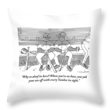 One Boston Red Sox Player Addresses Another Throw Pillow by Michael Crawford