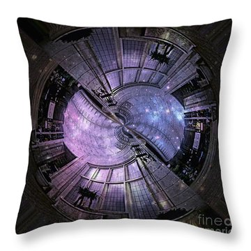 One Bulb Out In A Swirl With A Galaxy Throw Pillow