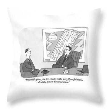 One Businessman To Another Throw Pillow