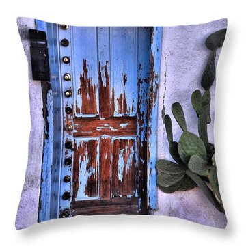 Throw Pillow featuring the photograph One Can Never Feel Too Safe by Barbara Manis