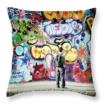 One Can't Paint New York As It Is But Rather As It Is Felt Throw Pillow