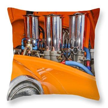 One Chrome Light Throw Pillow by Carolyn Marshall