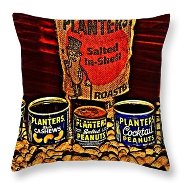 One Classy Nut Throw Pillow by Benjamin Yeager