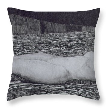 One Corpse Throw Pillow by August Bromse