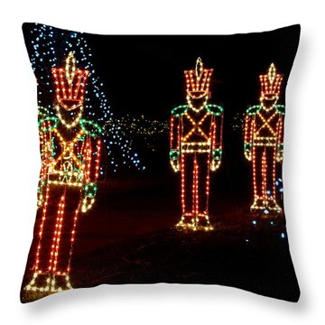 One Crooked Toy Soldier Throw Pillow by Rodney Lee Williams