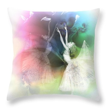 One Day I Can Fly Throw Pillow by Gun Legler