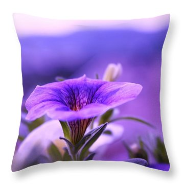 One Evening With Million Bells Throw Pillow