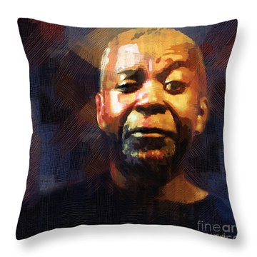 One Eye In The Mirror Throw Pillow